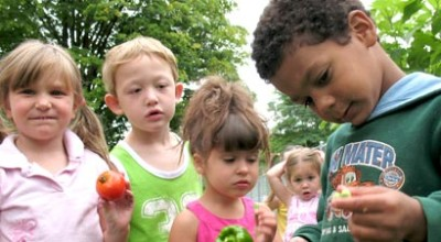Kids learning at their Vermont Head Start program